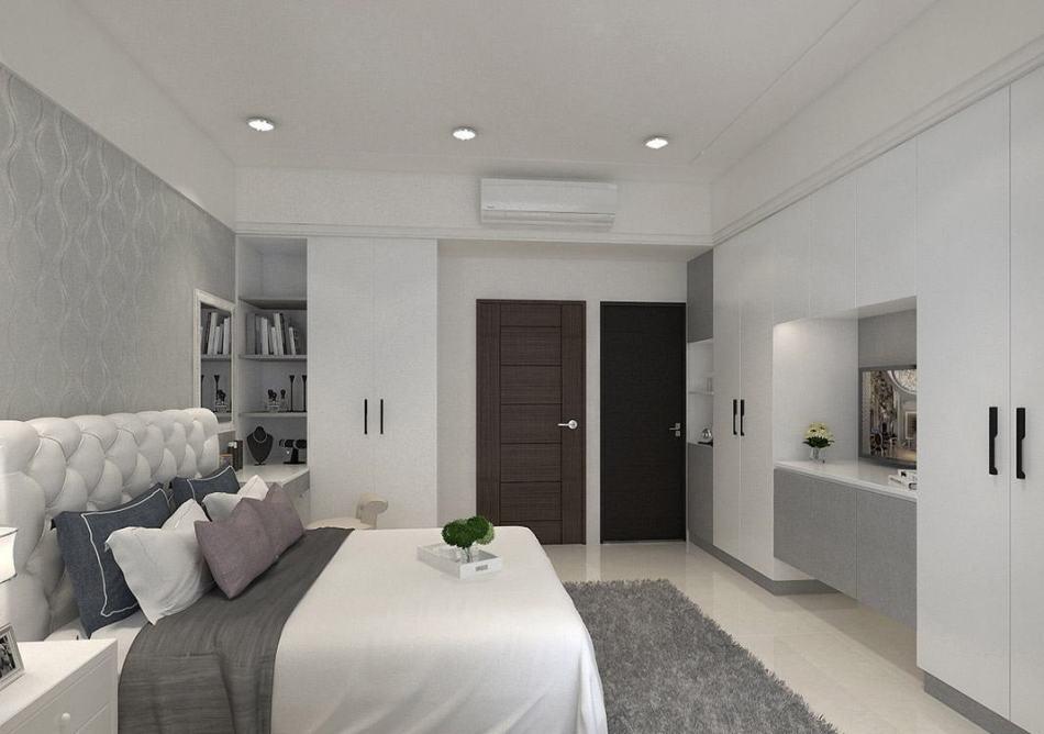 现代新古典主卧室设计图片
