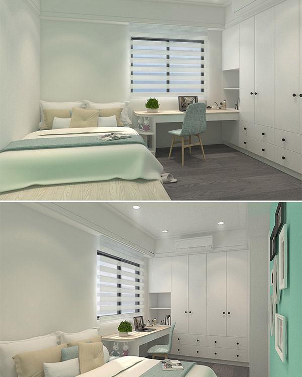 现代新古典女孩房设计图片