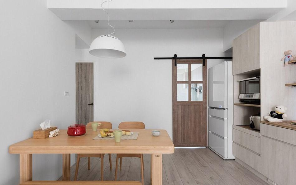 北欧风格厨房门片装修案例