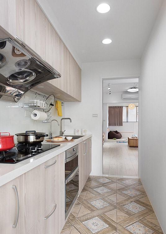 北欧风格厨房地坪装修案例