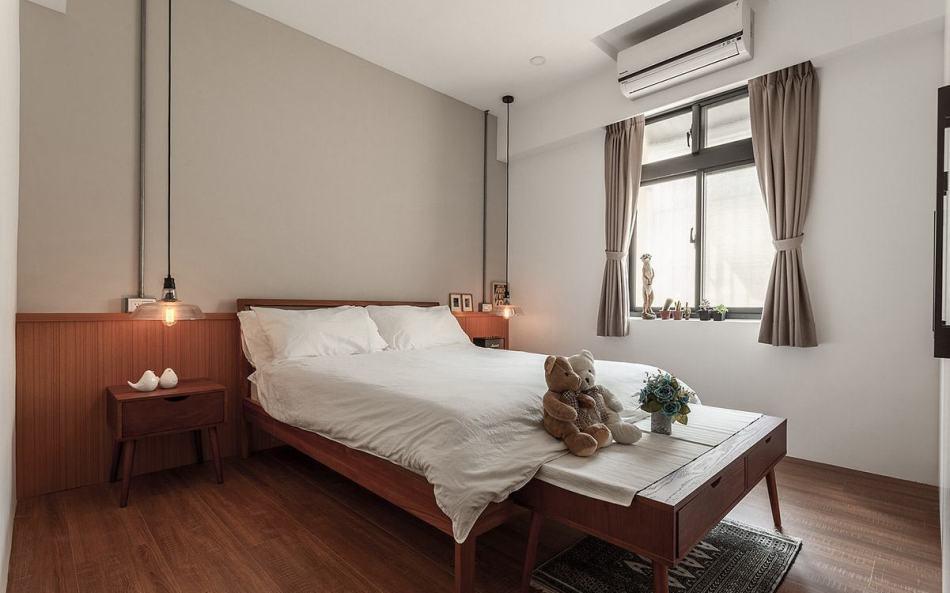 工业风格主卧室装修效果图