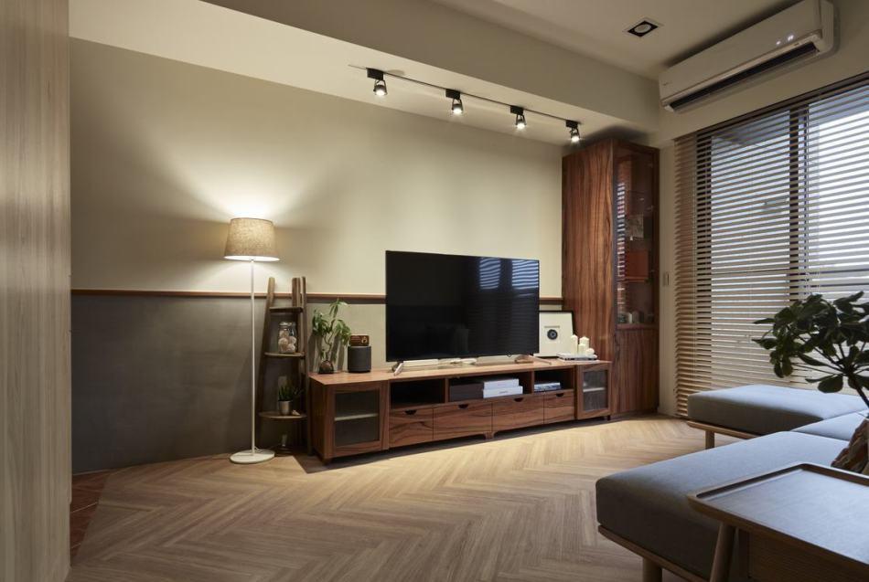 怀旧复古客厅设计效果图