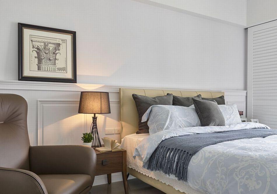 现代美式风格主卧室图