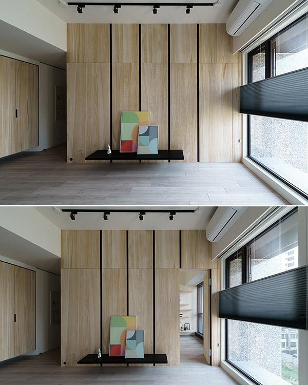 北欧风格电视墙设计效果图