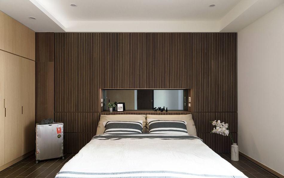 日式禅风主卧室图