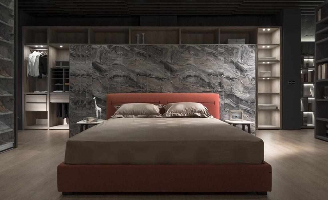 现代风格床头主墙装修效果图