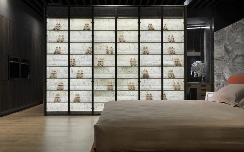 现代风格展示鞋柜装修效果图
