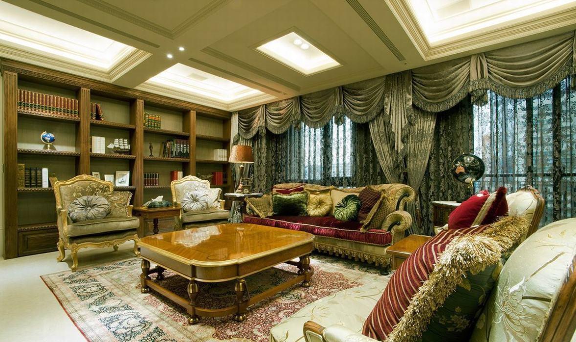 低调古典奢华客厅图