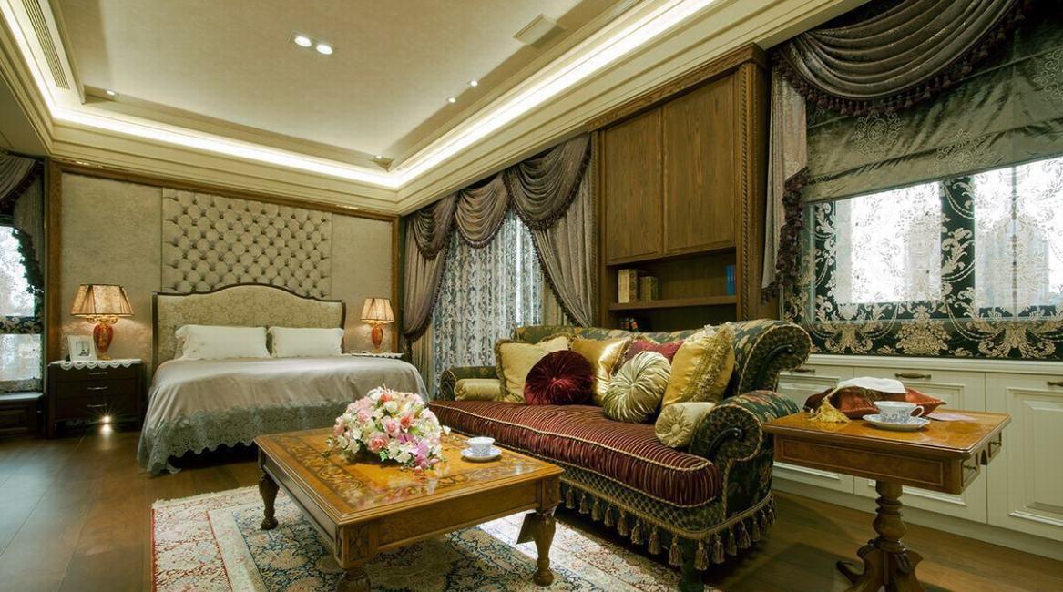 低调古典奢华主卧室图