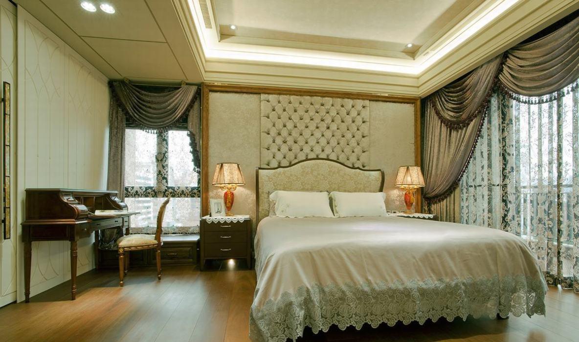 低调古典奢华床头主墙图
