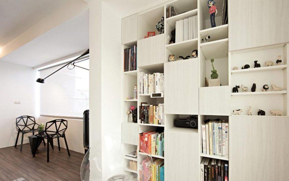 现代简约风书柜装修效果图