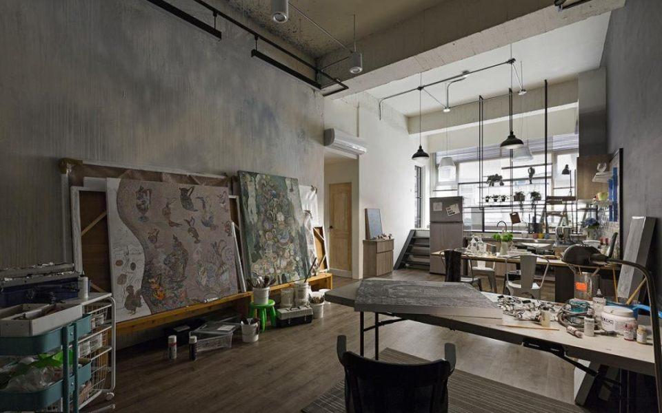 工业风格彩绘墙图片