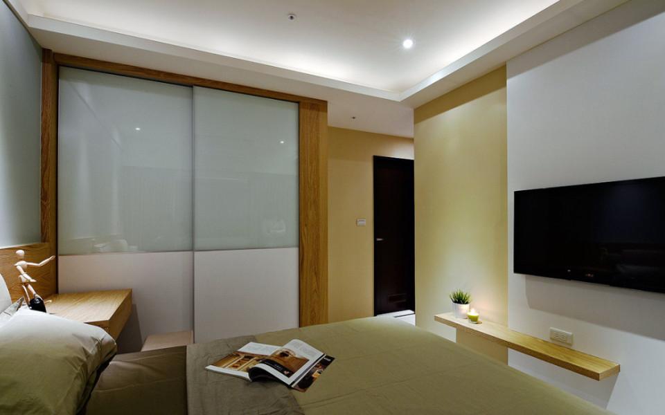 现代人文主卧室设计效果图