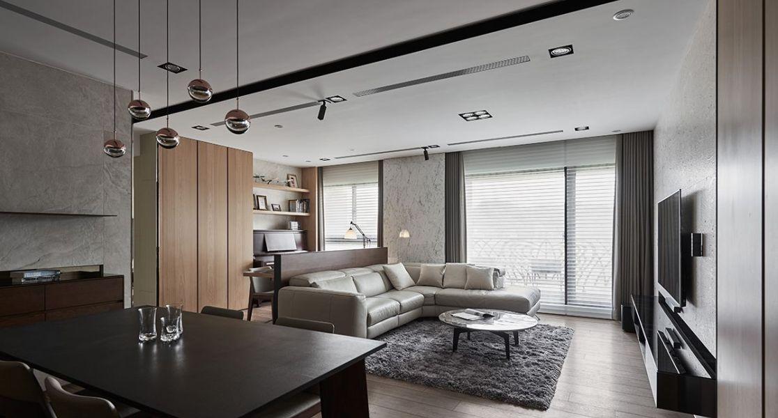 现代美式风格客厅区设计图片