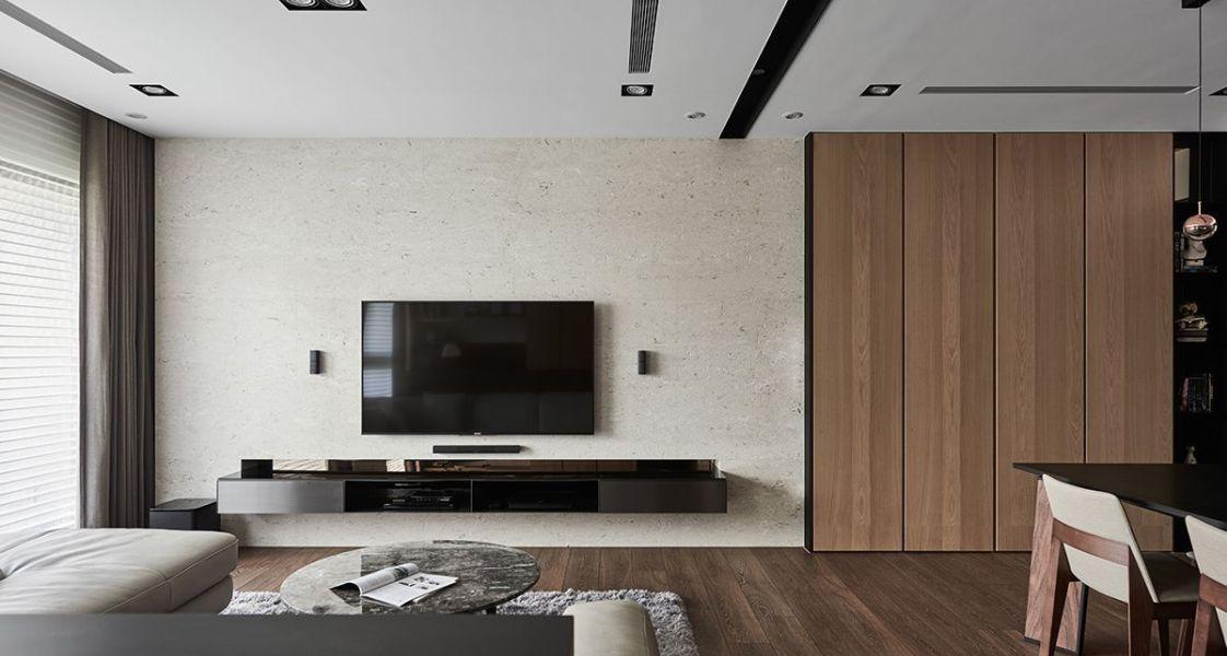 现代美式风格电视墙面设计图片