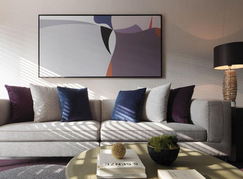 现代风格沙发背墙图片