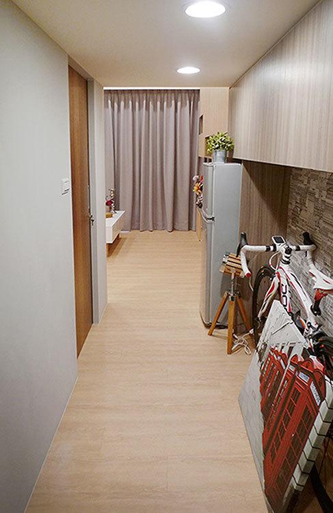 系统柜木皮壁整体设计..