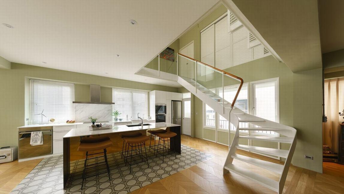 混搭风楼梯设计装修效果图
