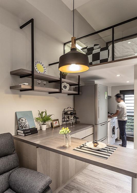 现代风格餐厨空间效果图