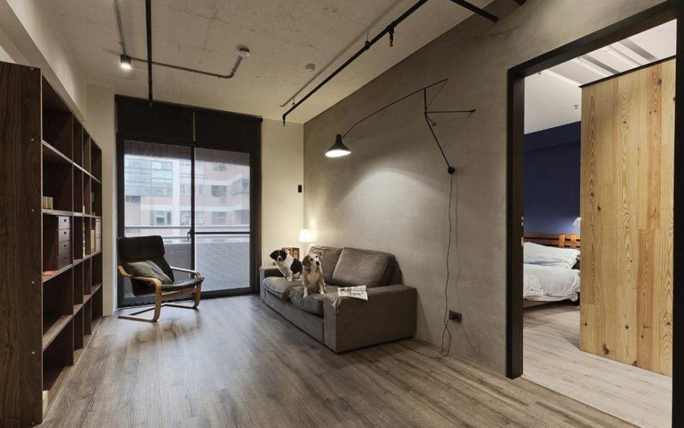 工业风格客厅效果图
