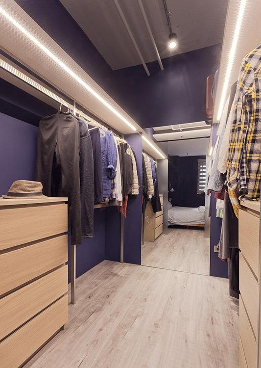 工业风格更衣室效果图