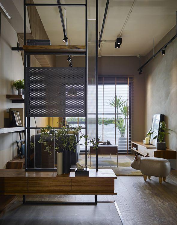 工业风格玄关屏风装修案例