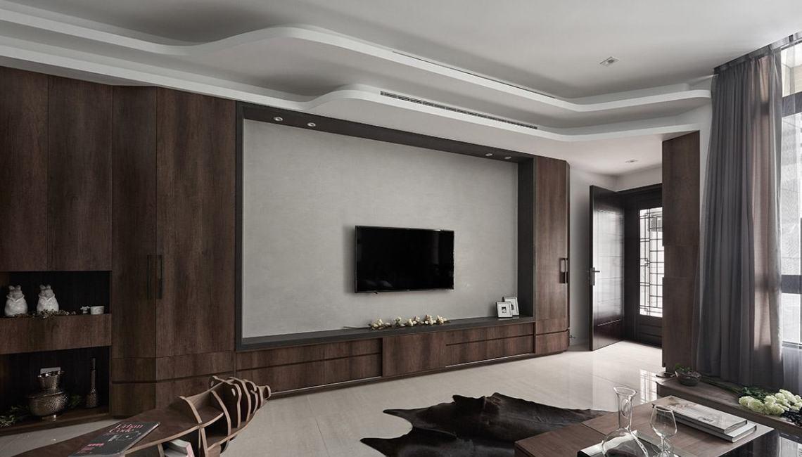 现代风格电视主墙装修效果图