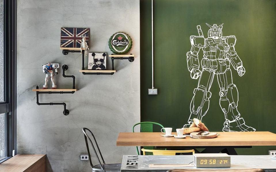 工业风格涂鸦墙图片