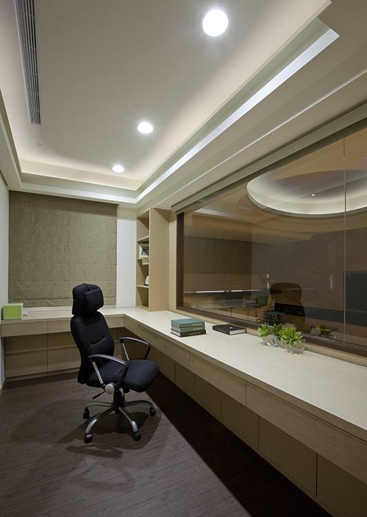 现代风格书房设计效果图