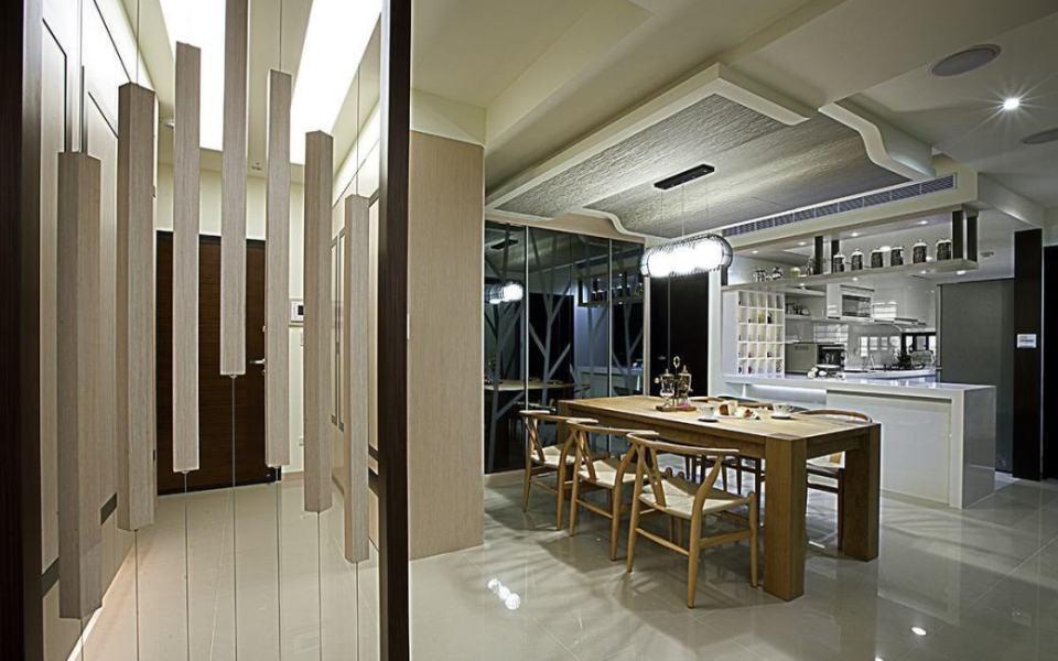 现代风格餐厨区设计效果图