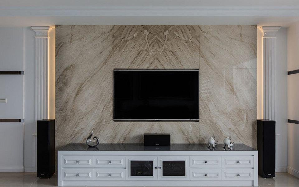 新古典电视墙图片