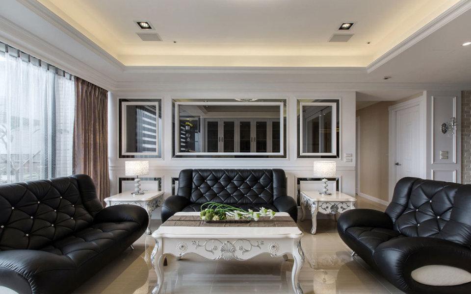 新古典沙发背墙图片