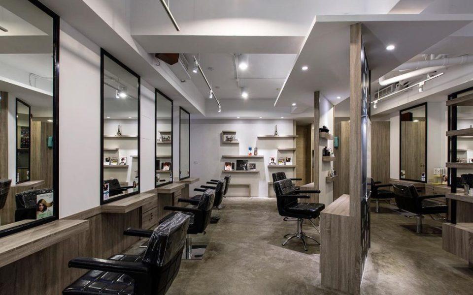 工业风格剪髮区欣赏图