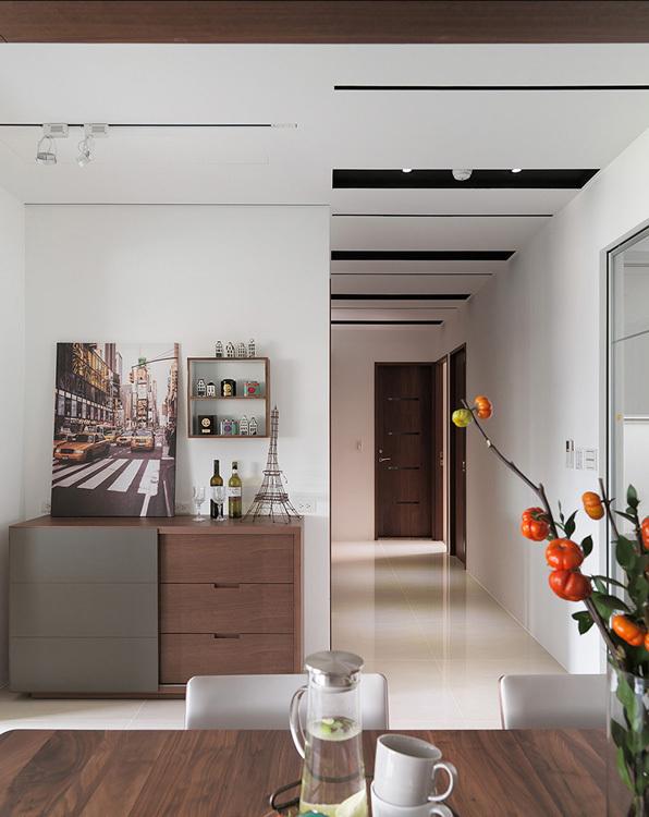 现代风格端景与廊道装修案例