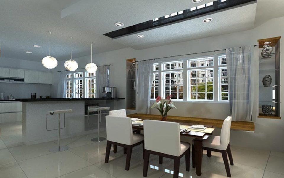奢华风格餐厨空间图片