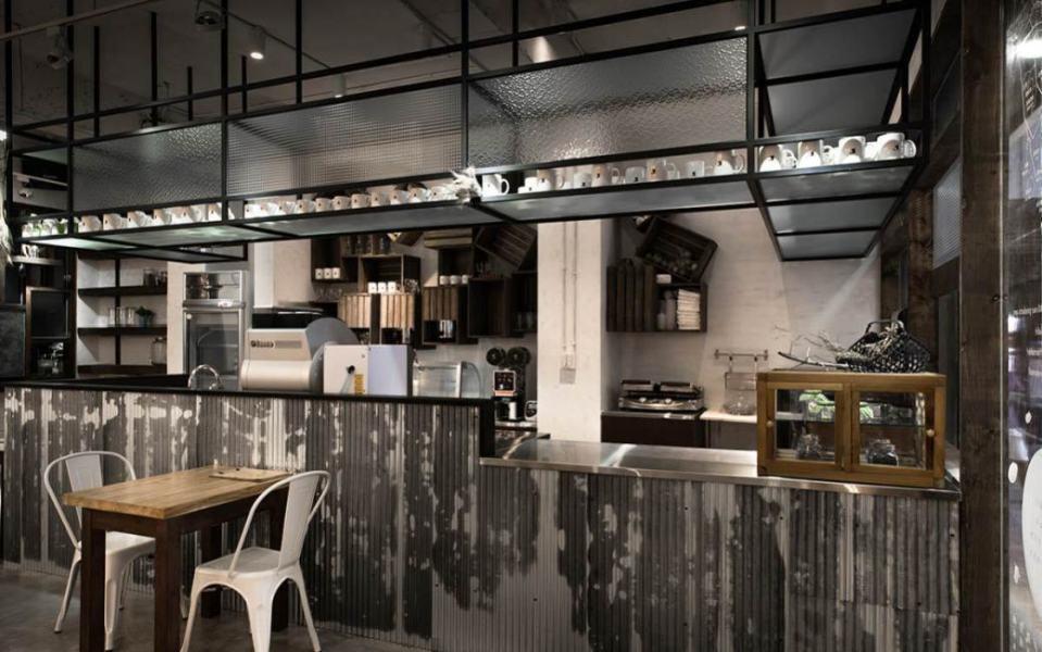工业风格餐吧空间设计效果图