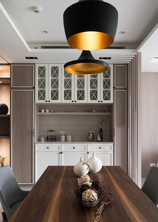 美式风格餐厅柜体设计图片