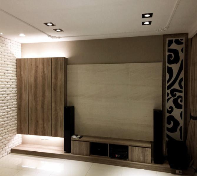现代风格客厅表情效果图