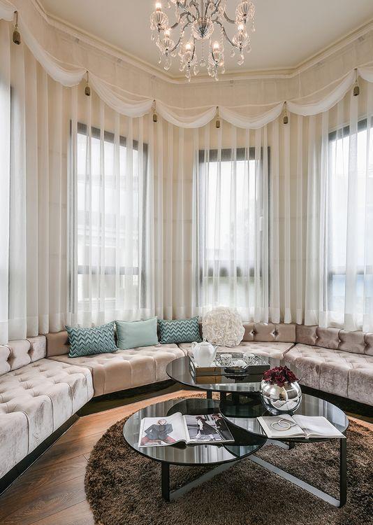奢华风格起居室图
