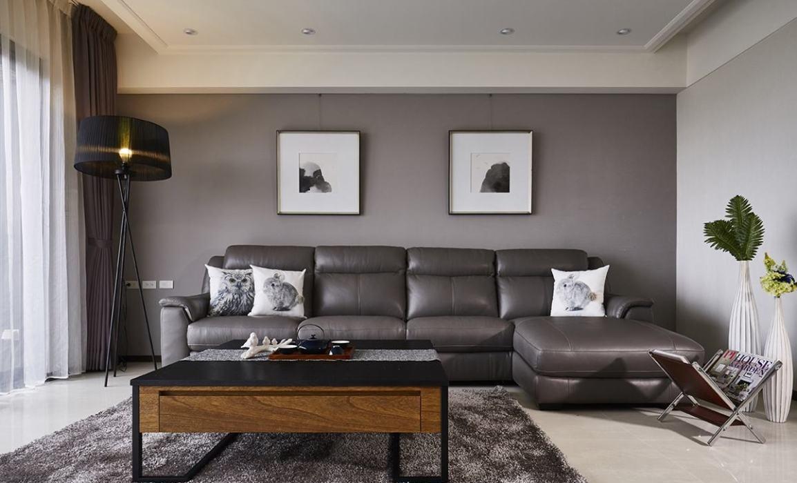 现代休闲沙发背墙欣赏图