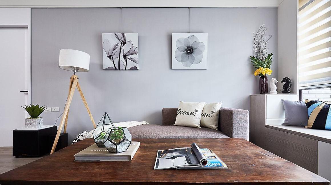 北欧风格沙发背墙效果图