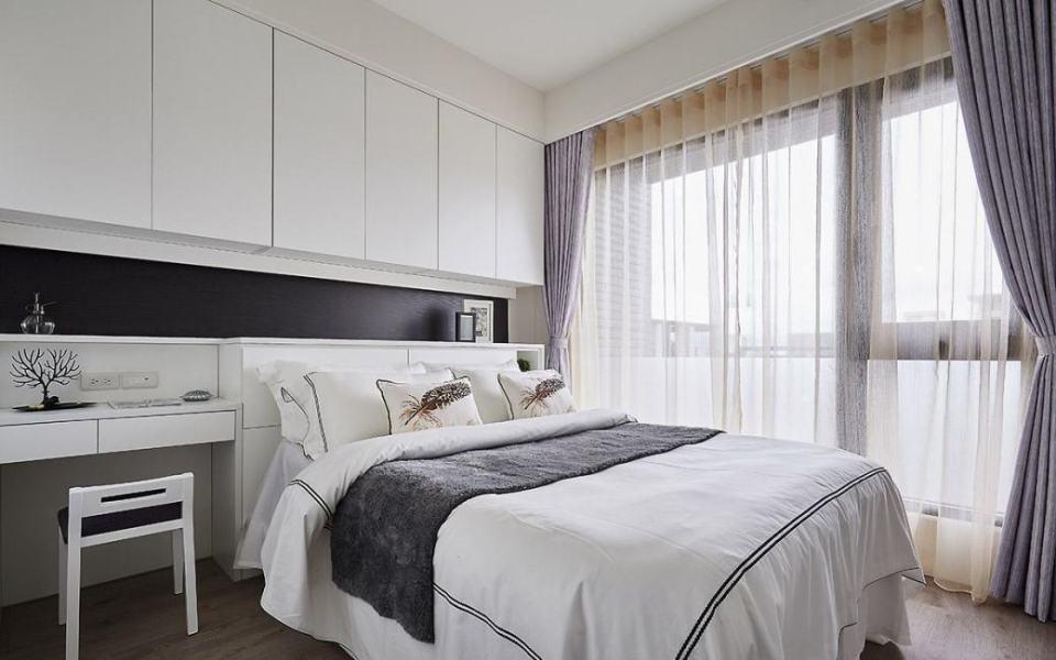 北欧风格主卧室效果图