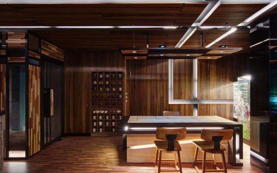 现代风格茶桌区装修图片
