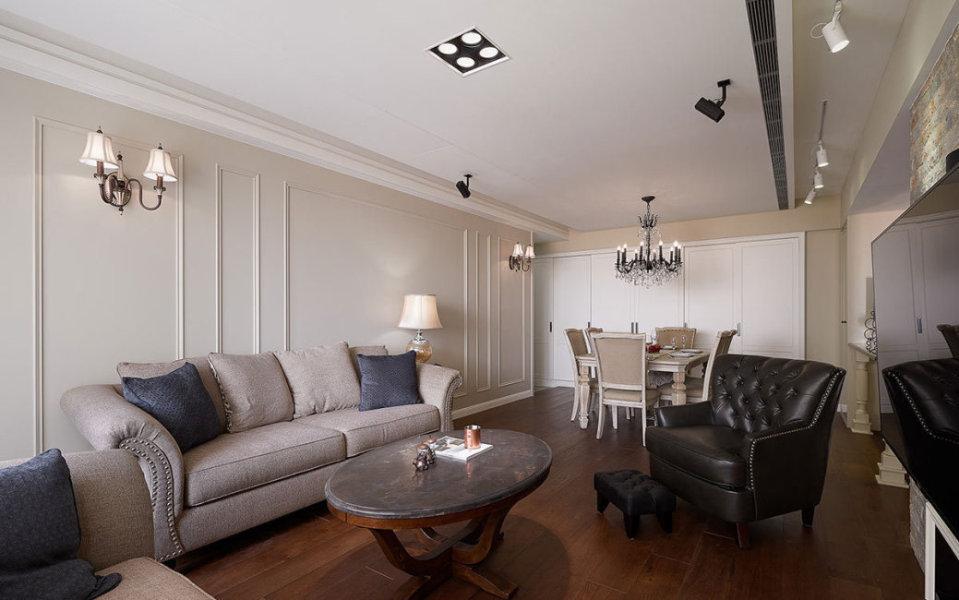 美式风格沙发背墙设计效果图