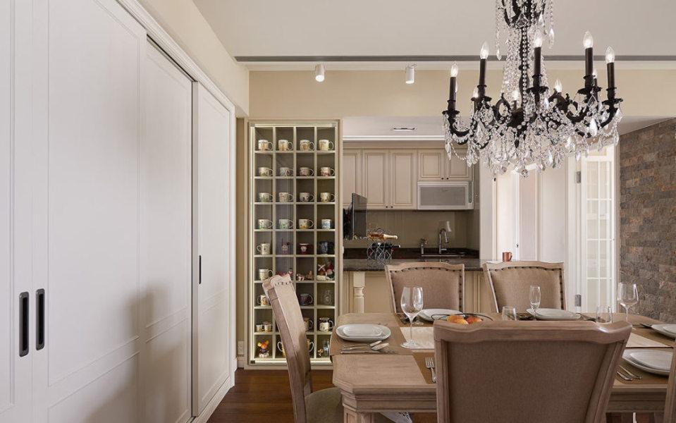 美式风格餐厨区设计效果图