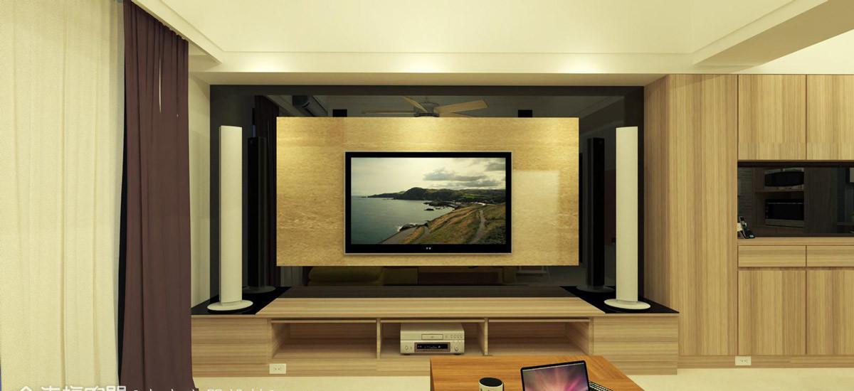现代风格电视墙设计图片