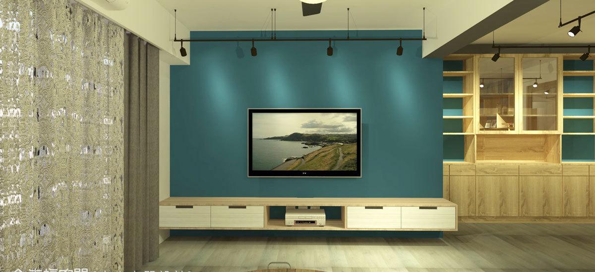 工业风格电视墙图片