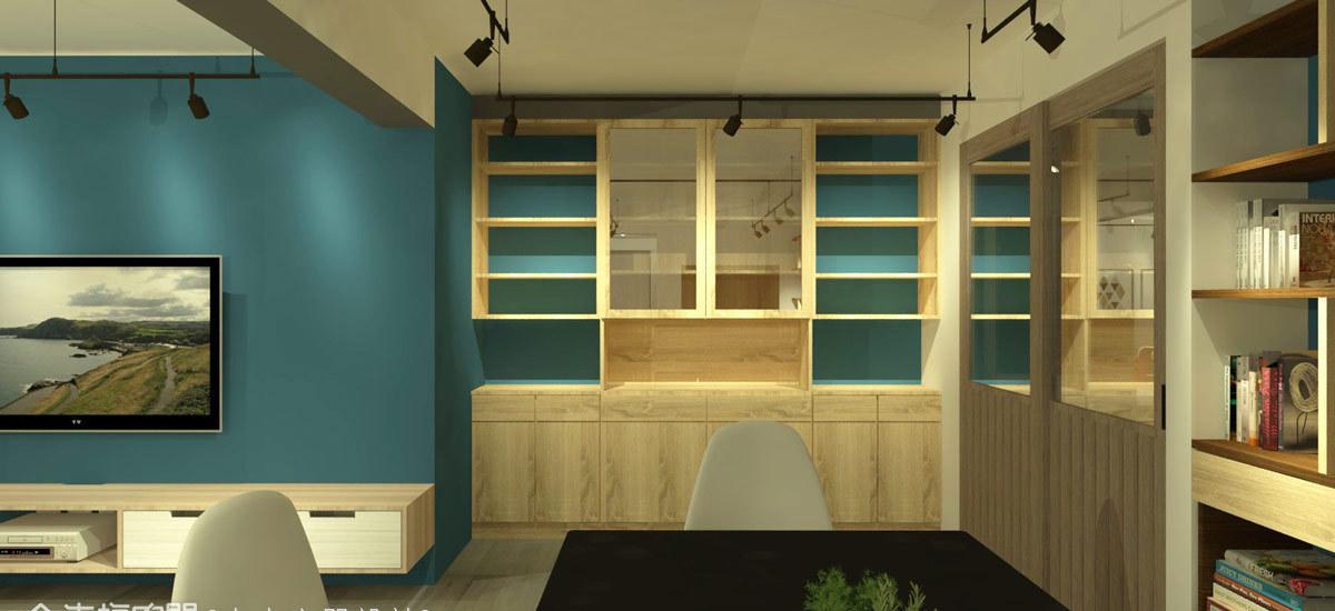 工业风格餐柜设置图片