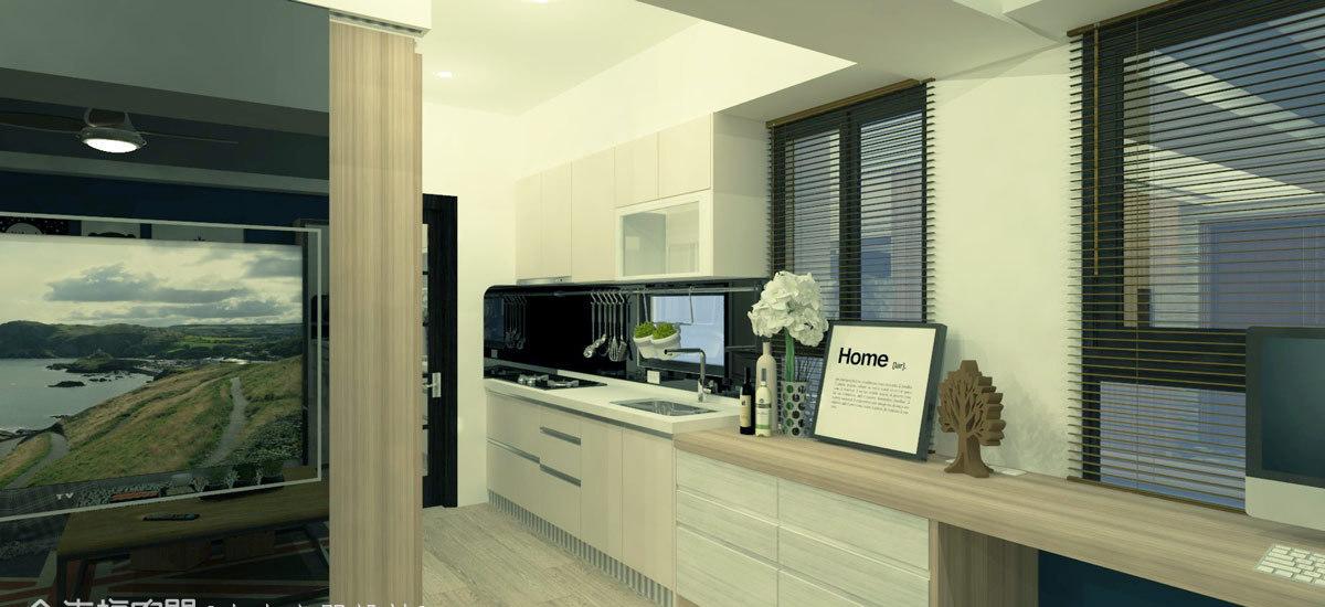 北欧风格厨房规划图片