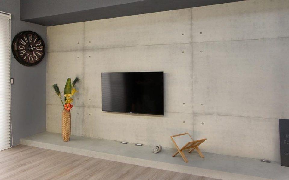 工业风格电视墙设计图片